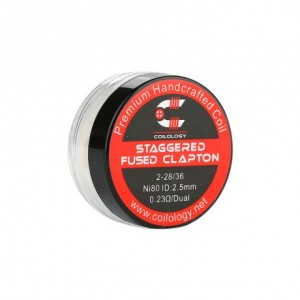 Coilology Ni80 Staggered Fused Clapton Prebuilt Coil 0.23ohm (2pcs)