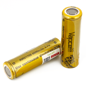 Vapcell 21700 Battery 30A 4000mAh Gold