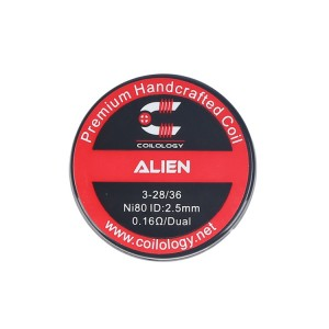 Coilology Ni80 Alien Prebuilt Coil 2.5mm 0.16ohm (2pcs)