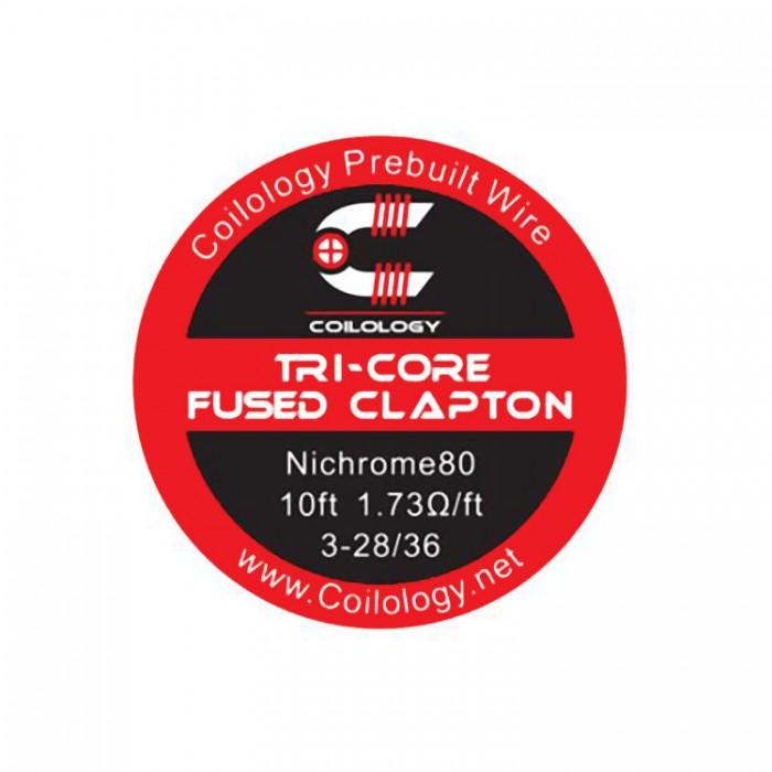 Coilology Ni80 Tri-Core Fused Clapton Wire 3-28 (3m)