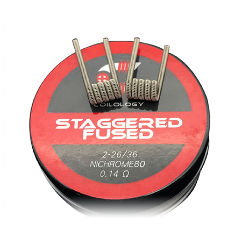Coilology Ni80 Staggered Fused Clapton Prebuilt Coil 0.14ohm (2pcs)