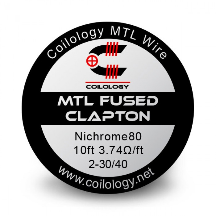 Coilology Ni80 MTL Fused Clapton Wire 2-30/40 3m