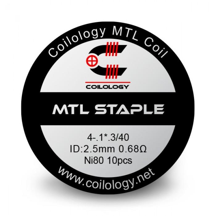 Coilology Ni80 MTL Staple Prebuilt Coils 0.68Ohm 10pcs