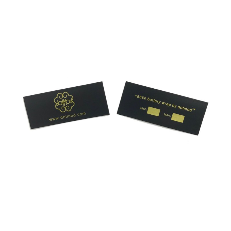 Dotmod 18650 Battery Wrap Gold