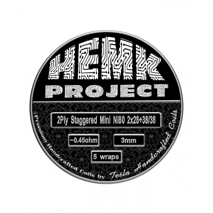 Hemk Project Ni80 2Ply Staggered Mini Prebuilt Coil 0.45Ohm