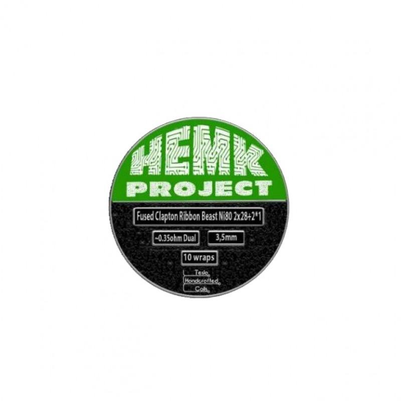 Hemk Project Ni80 Fused Clapton Ribbon Beast 0.35Ohm (Dual)