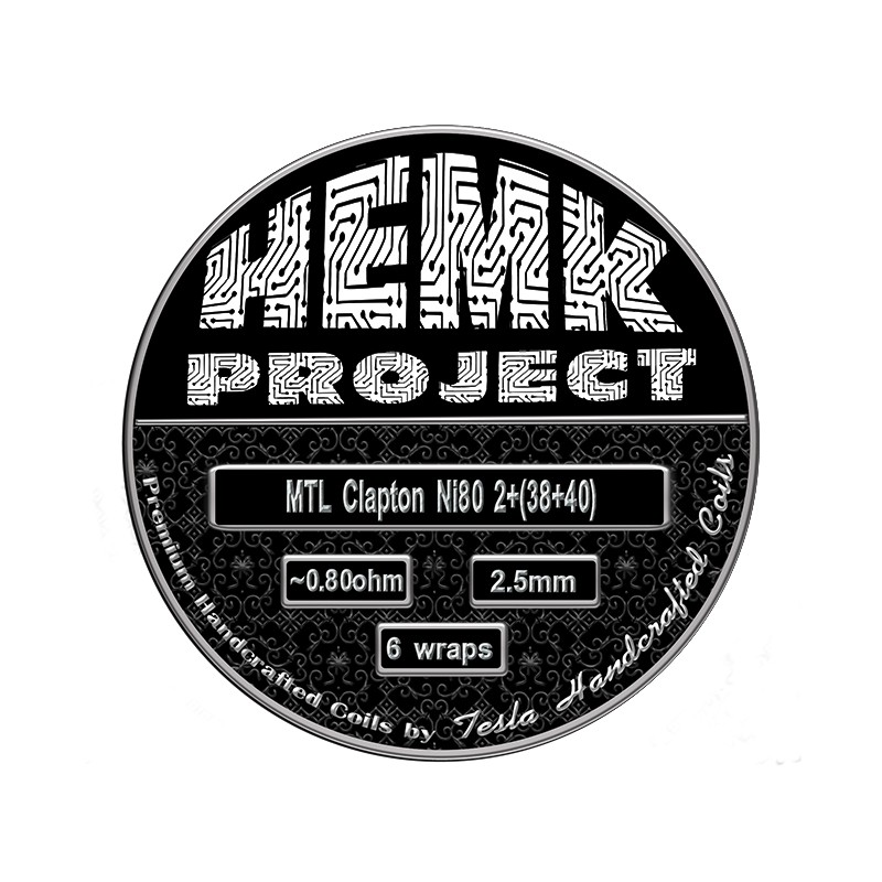 Hemk Project Ni80 MTL Clapton Prebuilt Coil 0.8Ohm