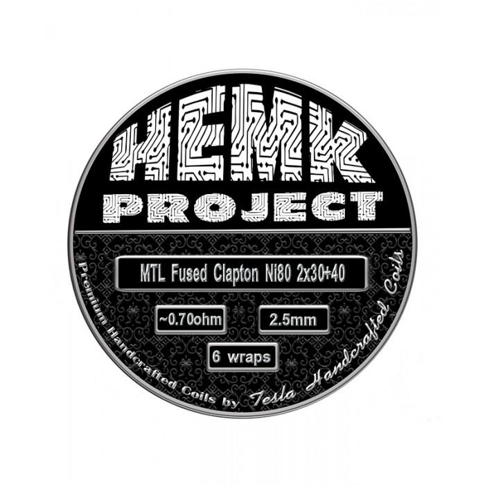 Hemk Project Ni80 MTL Fused Clapton Prebuilt Coil 0.7Ohm