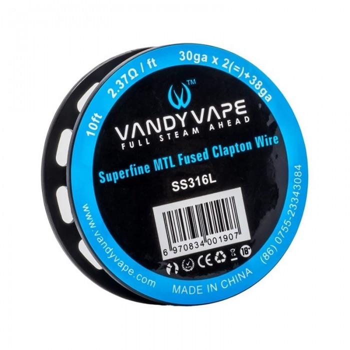 Vandy Vape SS316L Superfine MTL Fused Clapton Wire